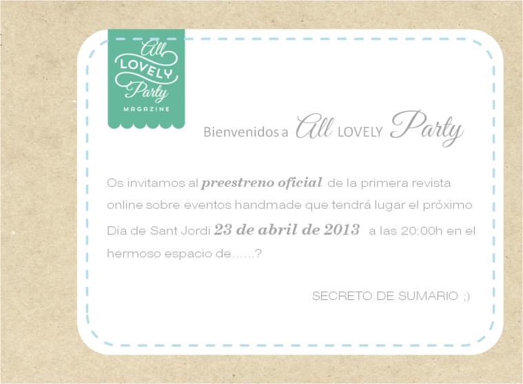 invitacion all lovely party
